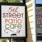 5th street patio cafe frisco sign logo