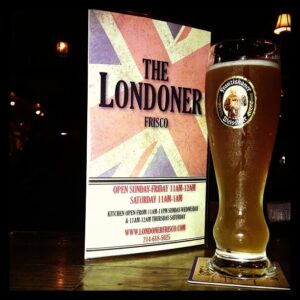 The Londoner Frisco Beer and Menu Close up