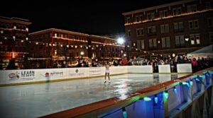 skating in Frisco Square