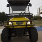 Front View of an Epic Carts Yellow Cart