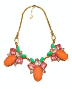 TrendyTrinkets orange necklace