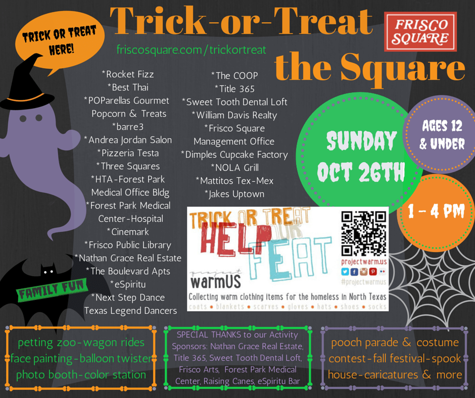 Project Warm Us Donation Drive And Trick Or Treat The