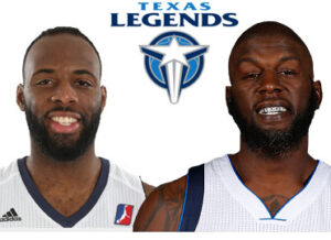 Damion James (left) and Ivan Johnson have started off on fire for the Texas Legends.