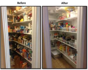 organized chaos with a twist before after pantry