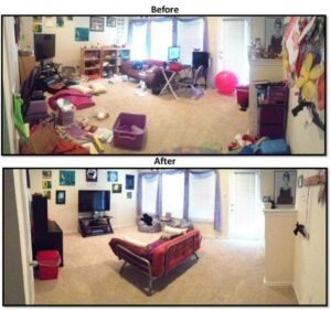 organized chaos with a twist before after play room