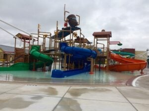 frisco athletic center water park extension slides