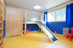 Kids Room Blue with Slide