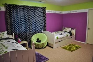 Kids Room Purple Green