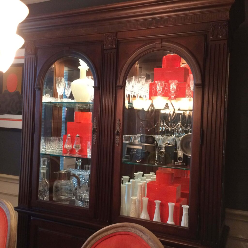 dining room china cabinet display