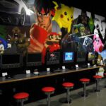 national video game museum mural consoles