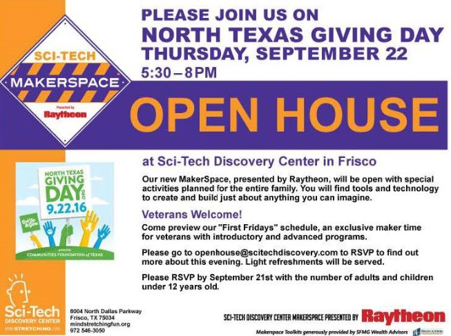 Sci-Tech Discovery Center Open House