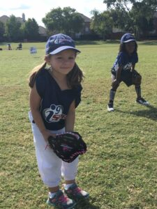 Tiny T-Ball Girls