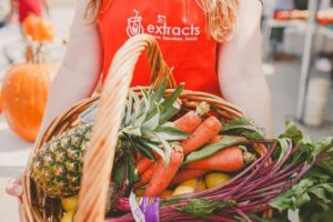 organic fruits and vegetables at Extracts