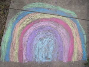 chalk children rainbow