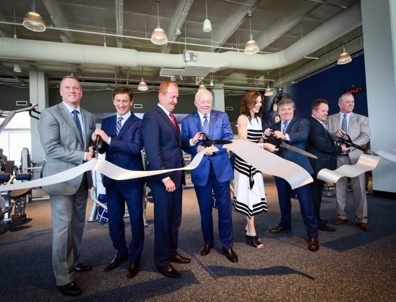 Cowboys Fit ribbon cutting
