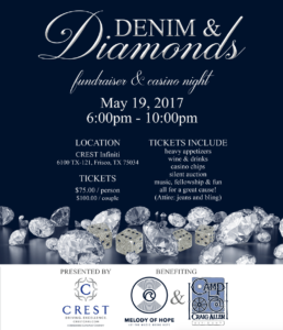 Denim and Diamonds - Melody of Hope and Camp Craig Allen Charity Event @ Frisco | Texas | United States