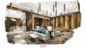 Omni Frisco Lobby Lounge Rendering