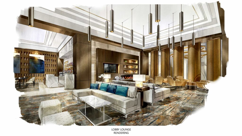 The Lobby Lounge - rendering