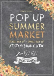 POP UP SUMMER MARKET @ Stonebriar Mall