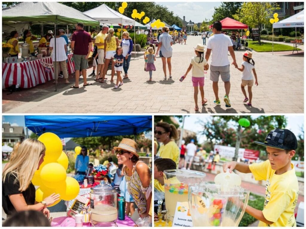 Newman Village Lemonade Stand Fundraiser Frisco