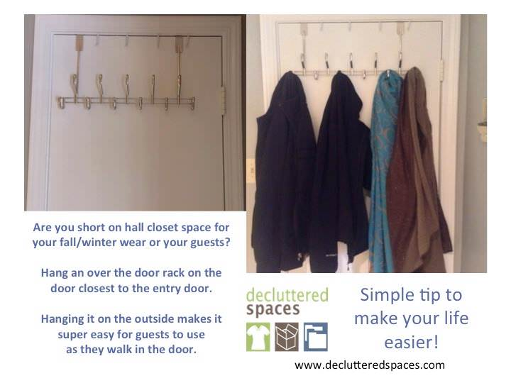 Decluttered Spaces tip