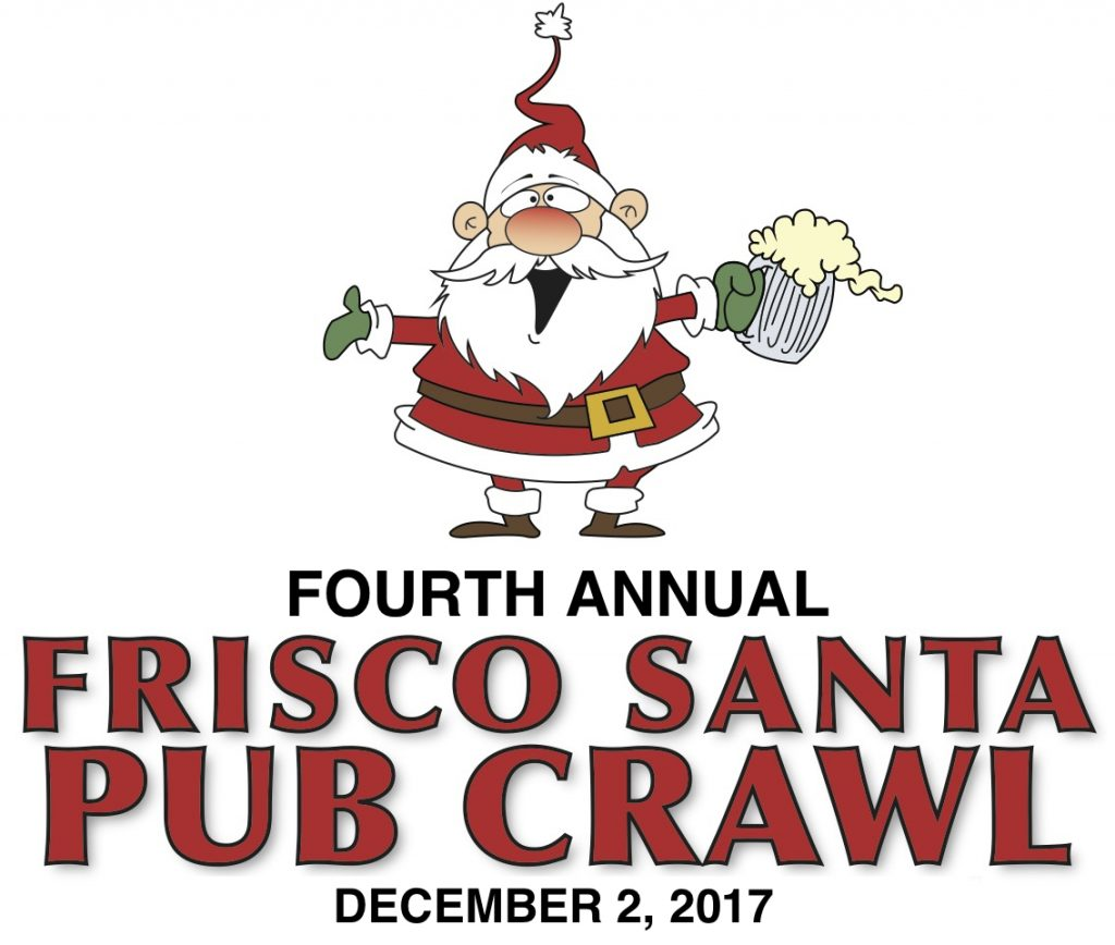 Frisco Santa Pub Crawl 2017