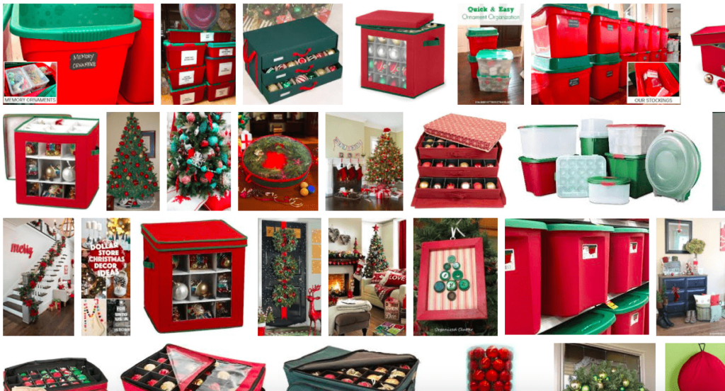 Holiday Ornaments Organized - Decluttered Spaces