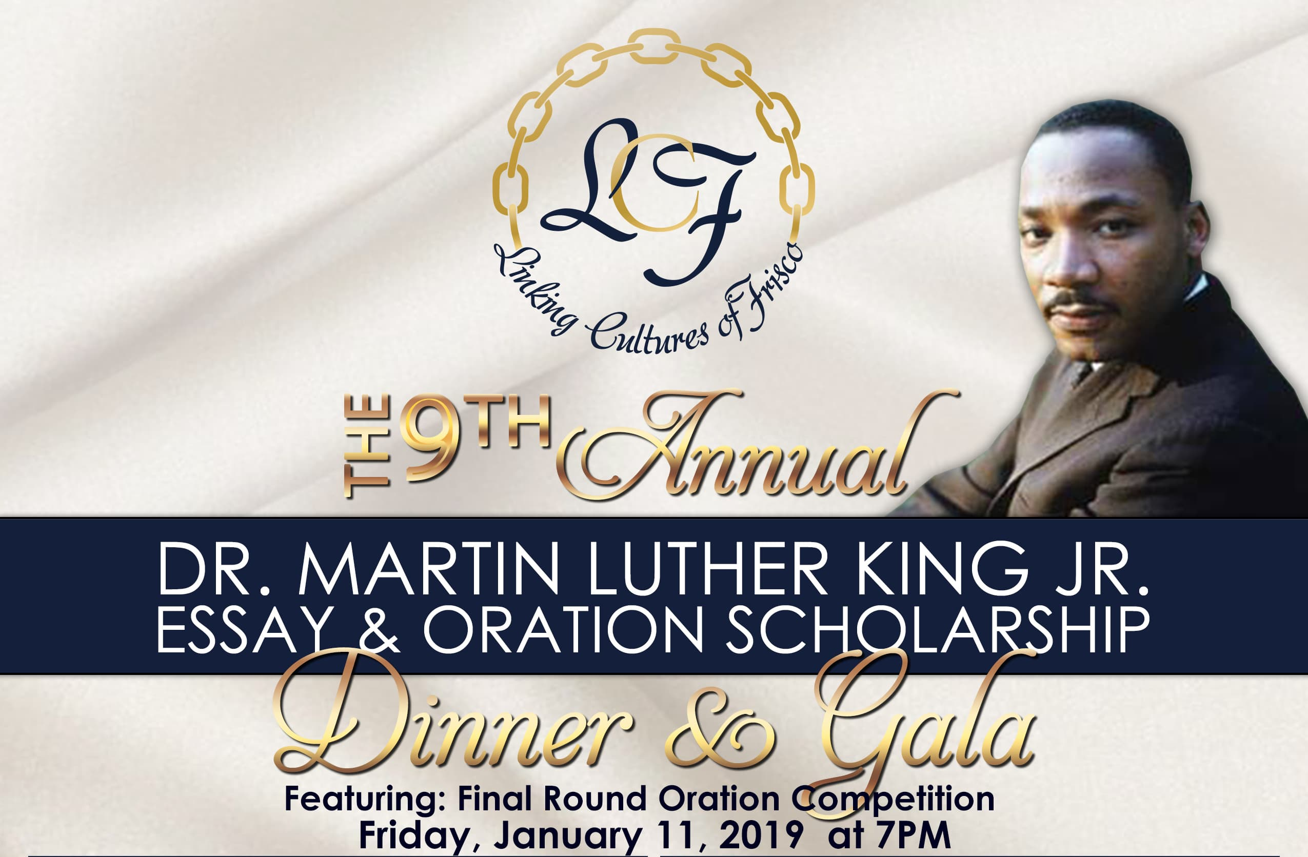 2019 MLK Oration and Gala Flyer