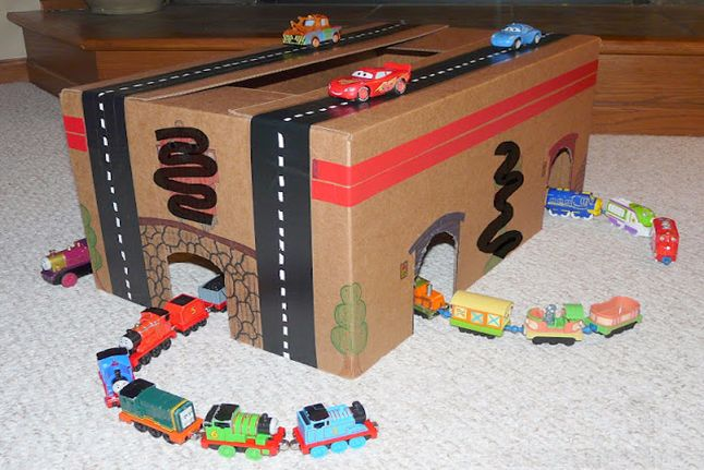 Cars and Trains Reuse Box