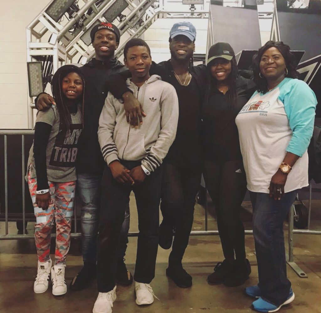 Jay Ajayi with family