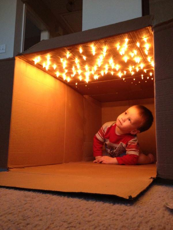 box with lights