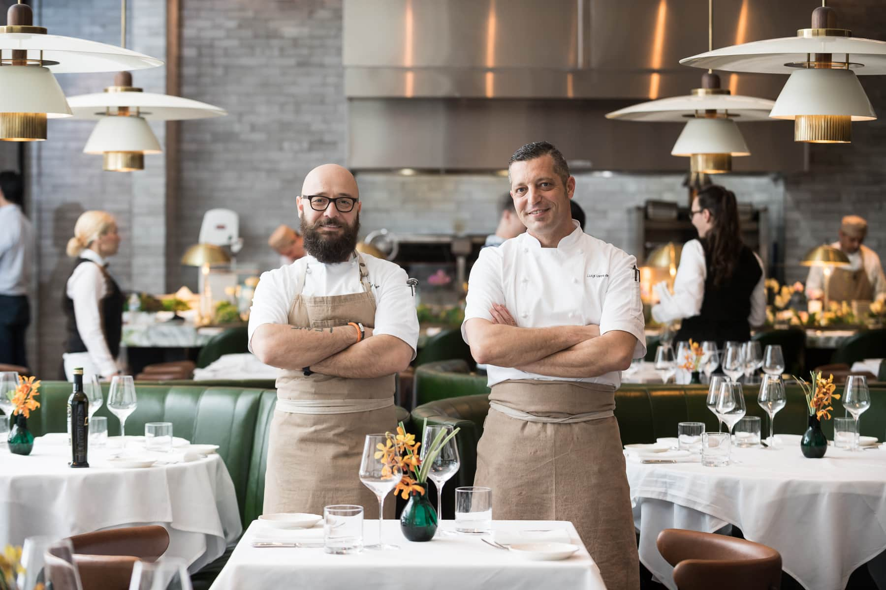 Corporate Chef Mert Seran, Da Mario Executive Chef Luigi Iannuario