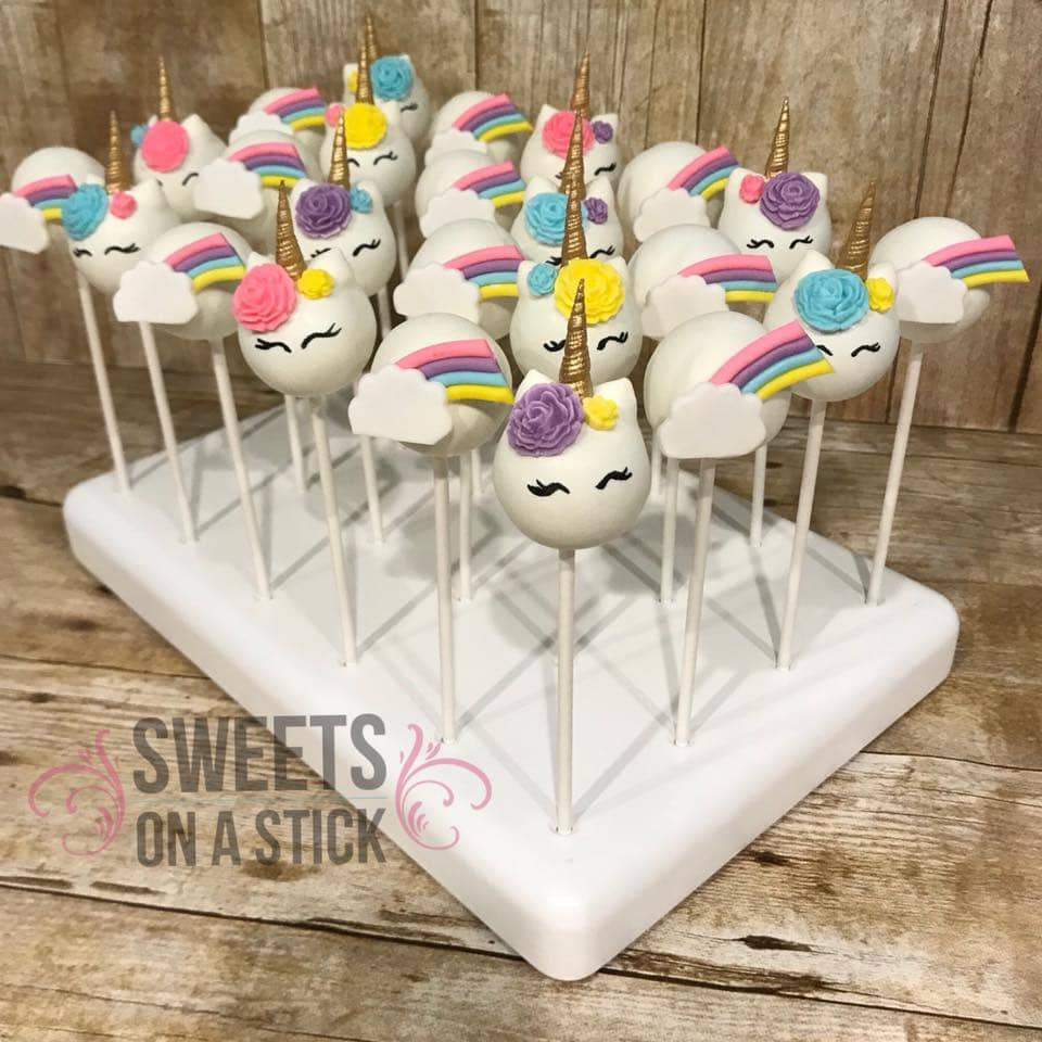 unicorn cake pops - Sweets On A Stick