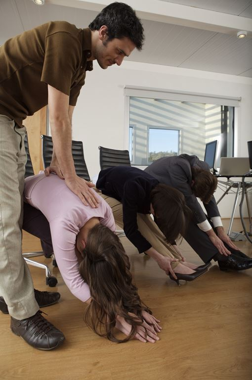 yoga session at office