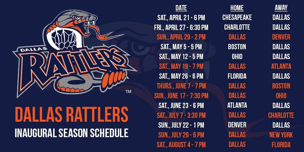 Dallas Rattlers shedule
