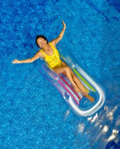 woman swimming pool summer