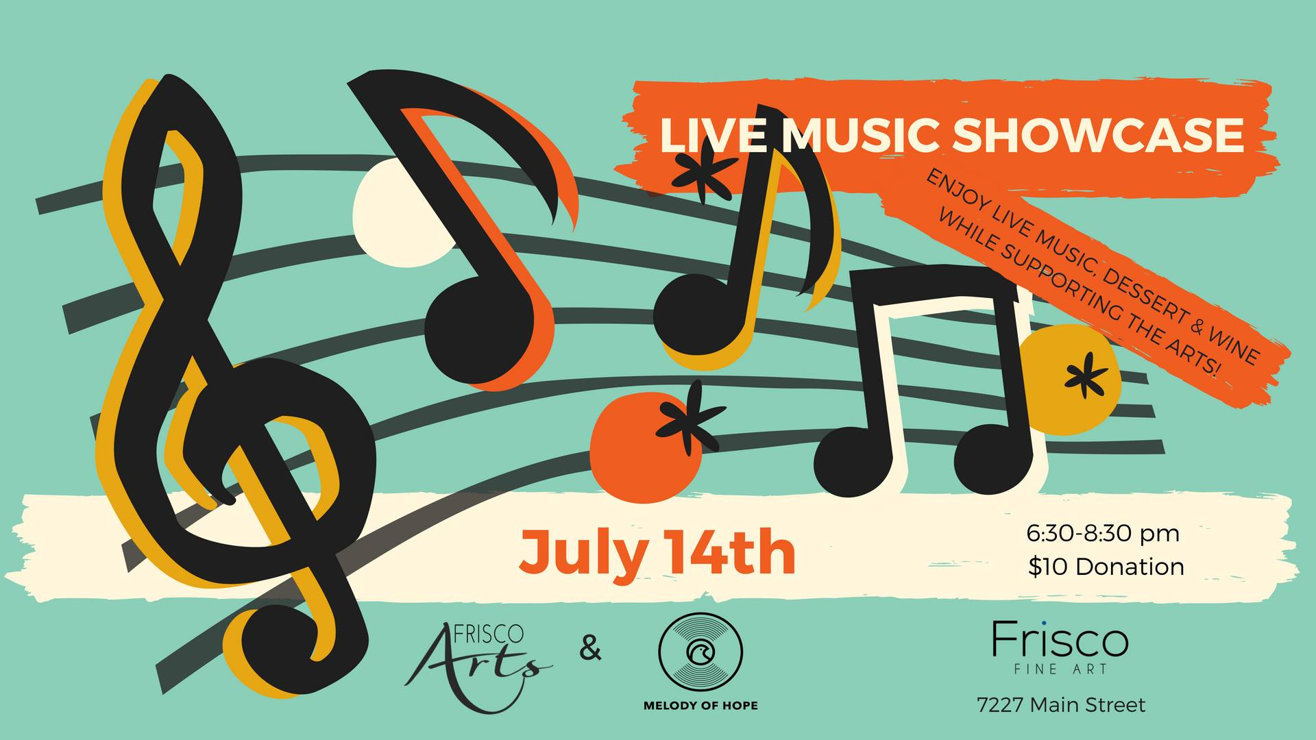 Live music showcase at frisco fine art gallery for Fine art gallery online