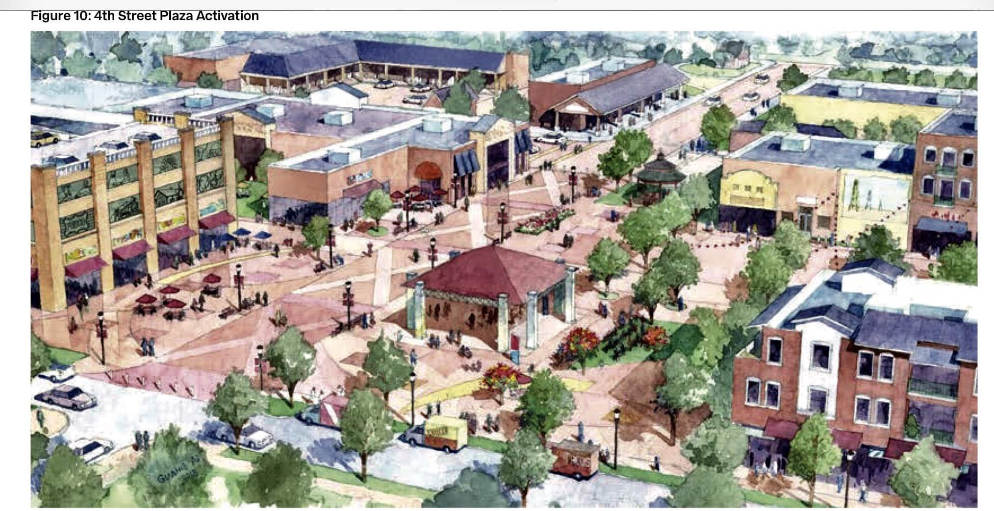 proposed 4th street plaza rail district frisco