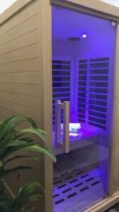 the sauna room