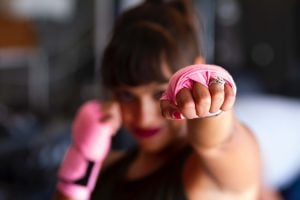 boxing gloves fitness woman