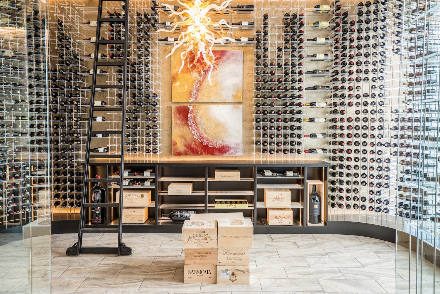 custom wine cellar Dee Lincoln