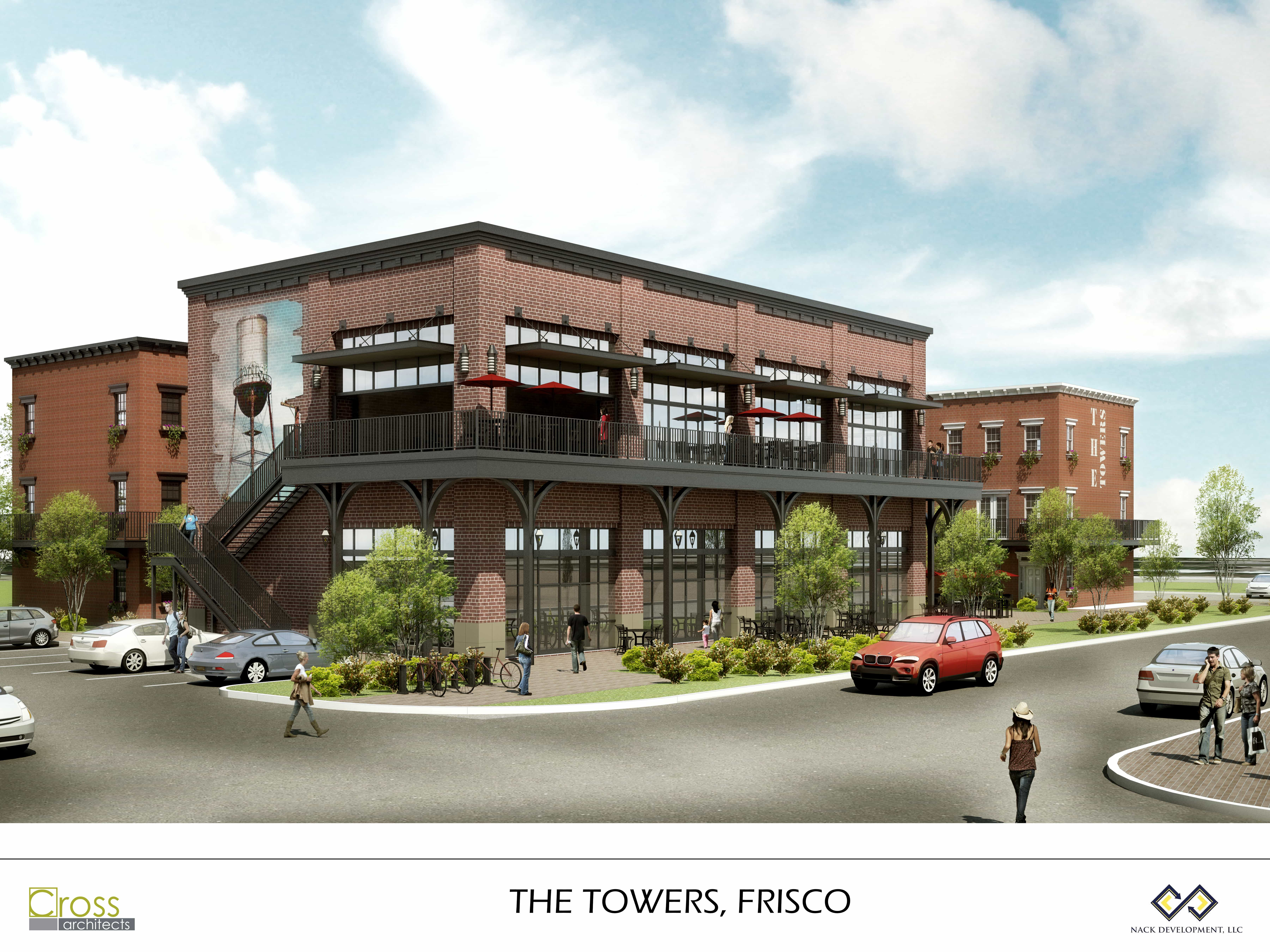 The Towers - Frisco - Retail Rendering