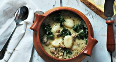Beauty From Burnt Toast Creamy Sausage Kale Gnocchi Soup