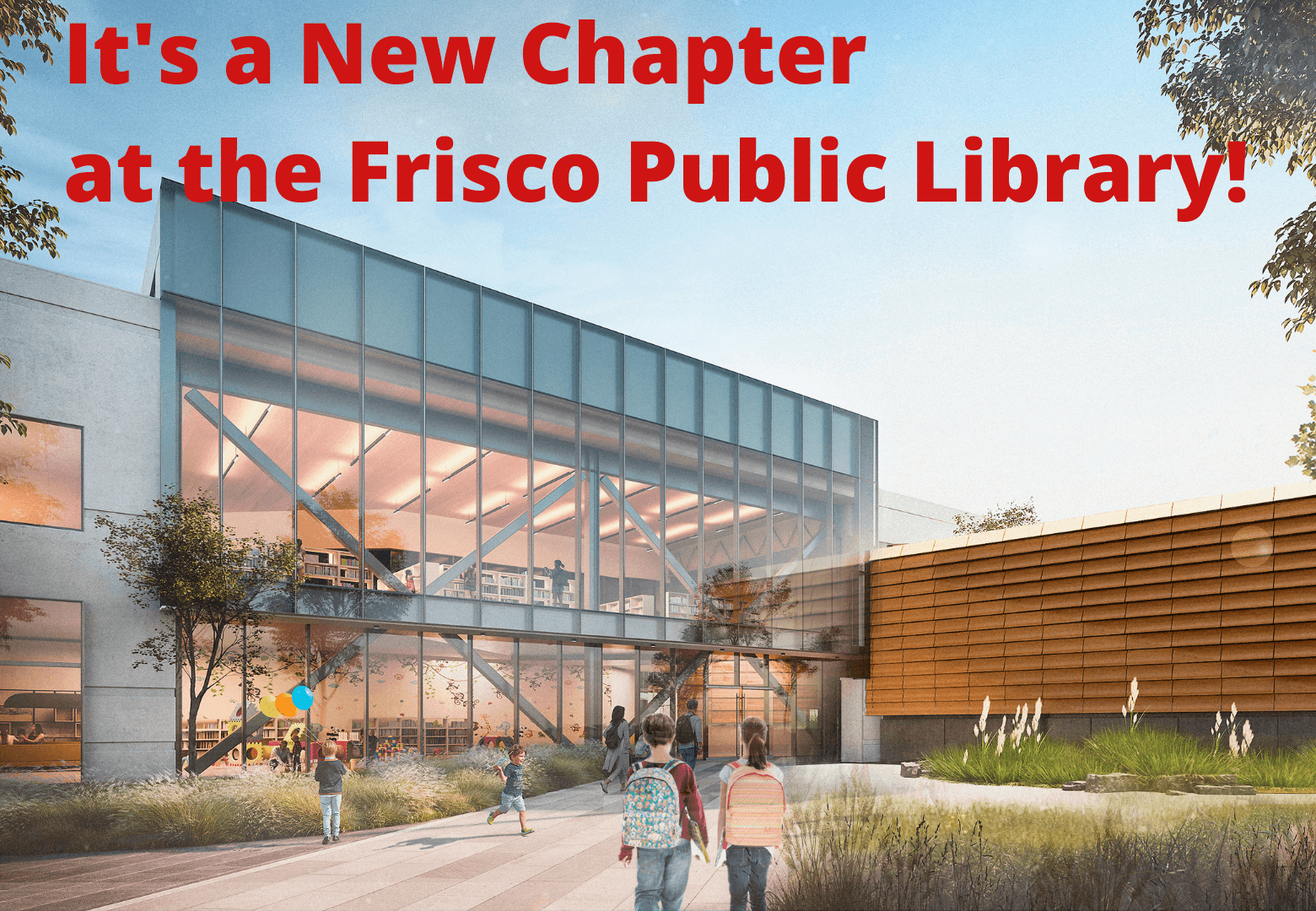 Main Entry of new Frisco Public Library